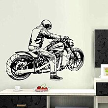 LovelyHomeWJ Vintage Klassische Motorrad Aufkleber