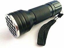 LoveOlvido 21 LED UV-Taschenlampe 395 nm