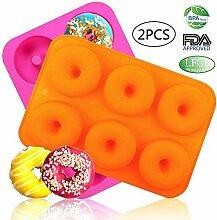 loves (2) 6-cavity Silikon Donut Backform/Antihaft
