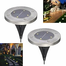 Loveusexy Solar Ground Lights 4 LED Solar