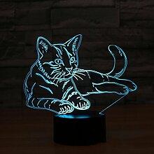 Lovevv Cat 3D Nachtlampe Tiervariablen