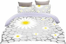 LOVEXOO Bedding Weiß & Chrysantheme 140x200cm