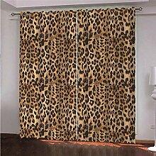 LOVEXOO Blickdicht Ösen Gardinen Leopardenmuster