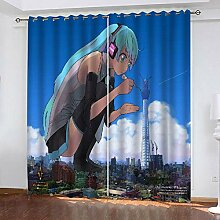 LOVEXOO Curtains Riesen & Mädchen Vorhang
