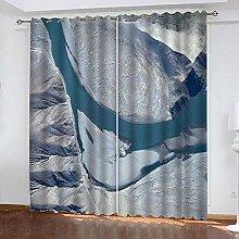 LOVEXOO Curtains Satellitenbilder Vorhang