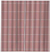 LOVEXOO Gardinen Blickdicht Rosa Muster B117 x
