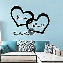 Loving Heart Home Decorations Pvc-Aufkleber Für
