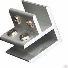 LOVIVER 2 STÜCKE Einstellbare 90 ° Winkel Glas