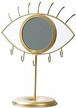 LOVIVER Boho Tabletop Eye Shaped Gold Spiegel mit