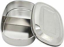 LOVIVER Edelstahl Lunchbox Metall Brotdose,