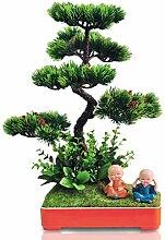 LOVIVER Künstliche Pflanzen Bonsai Lebendiger