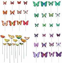 LOVIVER Schmetterlinge Gartendeko Gartenfigur
