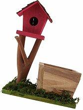 LOVIVER Vogelhäuschen Aus Holz, Vogelhäuschen,