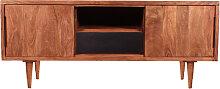 Lowboard Akazie in natur mit schwarzer Schublade 2