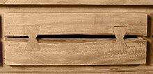 Lowboard Akazie mit Metall in cognacfarbig und