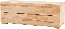 Lowboard aus Kernbuche Massivholz 120 cm