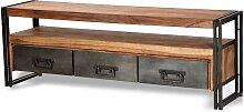 Lowboard im Industry Style Sheesham Massivholz