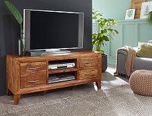 Lowboard Massivholz Sheesham Kommode 135 cm TV