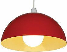 Loxton Lighting 35.56 cm Gelb Metall Zylinder Dome