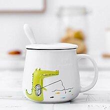 LOYWT Cartoon Relief Keramik Tasse Niedlichen Chao
