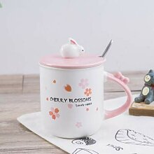 LOYWT-Kaninchen, Keramiktasse, schönes Mädchen,