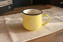 LOYWT-Keramiktasse, Kaffeetasse mit großer