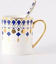 LOYWT Kreative Knochen Porzellan Paar Kaffeetasse