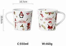 LOYWT Weihnachtsbecher, Kreative Tassen, Keramik,