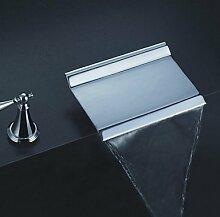 lozse Armaturen für Waschbecken - Zeitgenössisch - Wasserfall - Messing ( Chrom )