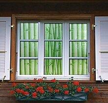 Lozse Badezimmer-Fenster-Folie&Aufkleber, Bambus