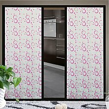 Lozse Badezimmer-Fenster-Folie&Aufkleber, Kreis