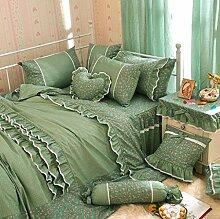 Lozse Bettwäsche Prinzessin Pastoral Spitze Bett