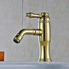 Lozse Goldene 360 ??° Rotary Wasser Outlet Messing Waschbecken Wasserhahn