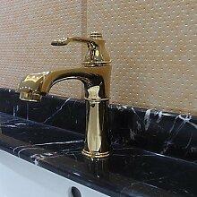 lozse massivem Messing einzigen Handgriff zeitgenössische ti-PVD-Finish Waschbecken Wasserhahn