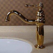 Lozse Solid Brass Einhand Zeitgenössische Ti-PVD-Finish Waschbecken Wasserhahn
