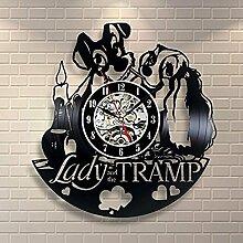 Lozse Vinyl Bell Clock, Schwarzen Kleber, Hohlen