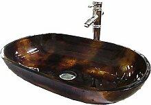 Lozse Waschbeckenset für Badezimmer - Zeitgenössisch - Hartglas ( Hartglas )