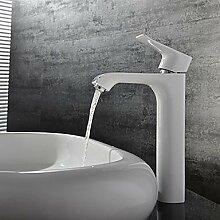 lozse Zeitgenössische Weiß-Malerei Ein Loch Einhand Waschbecken Wasserhahn
