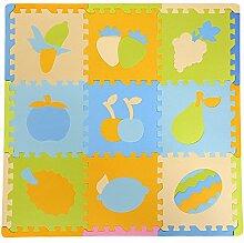 LPATTERN 9 Stück Spielmatte Baby Kinder Spielteppich Spielzeug Schadstofffrei Kinderspielteppich Spielmatte ,D