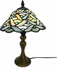 LPCHEN Tischlampe, Tiffany Florale Design Bunt