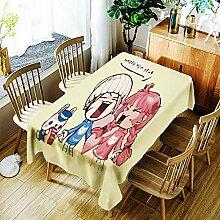 LPLH Fashion Girl Tischdecke Cartoon Muster für