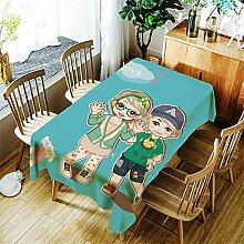 LPLH Mode Mädchen Tischdecke Cartoon Muster für