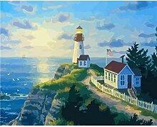 LPLH Puzzle 1000 Stück Leuchtturm Landschaft Bild