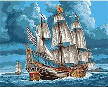 LPLH Puzzle 1000 Stück Segelboot Landschaft Bild