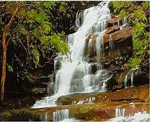 LPLH Puzzle 1000 Stück Wasserfall Landschaft auf