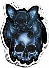 Lplpol 3 Stück Aufkleber Chihuahua-Totenkopf