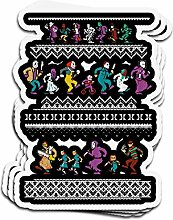 Lplpol 3 Stück Aufkleber Monster Holiday Sweater