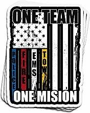 Lplpol 3 Stück Aufkleber One Team One Mision