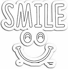 Lplpol 3 Stück Aufkleber Smiley-Gesicht