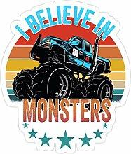 Lplpol 3 Stück Monster Trucks I Believe in